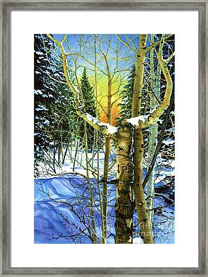 Supplication-psalm 28 Verse 2 Framed Print by Barbara Jewell