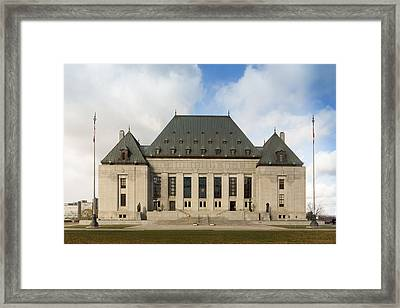 Supreme Court Of Canada Building Framed Print