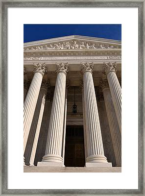 Supreme Court Of United States Framed Print by Brandon Bourdages