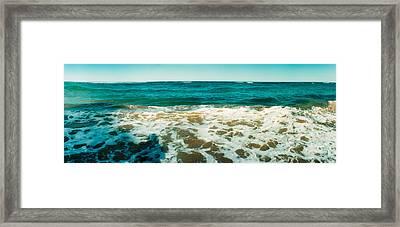 Surf On The Beach, Morro De Sao Paulo Framed Print
