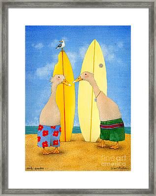 Surf Quacks... Framed Print