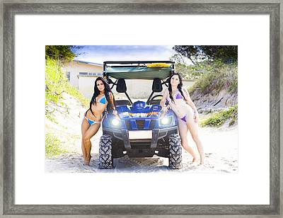 Surf Rescue Babes Framed Print by Jorgo Photography - Wall Art Gallery