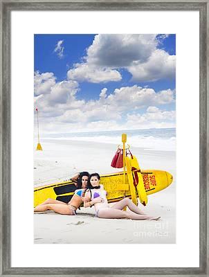 Surf Rescue Concept Framed Print