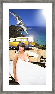 Surf Sun And Beach Fun Framed Print by Jorgo Photography - Wall Art Gallery