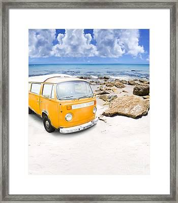 Surf Van Framed Print