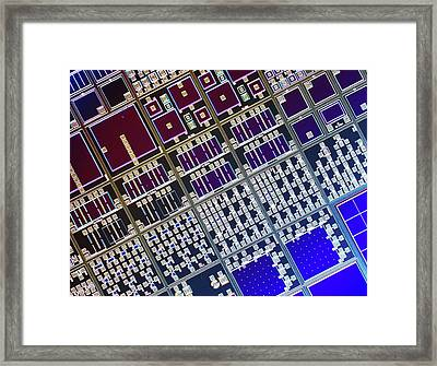 Surface Of Microchip Framed Print