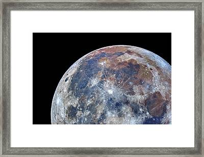 Surface Of The Moon Framed Print by Babak Tafreshi