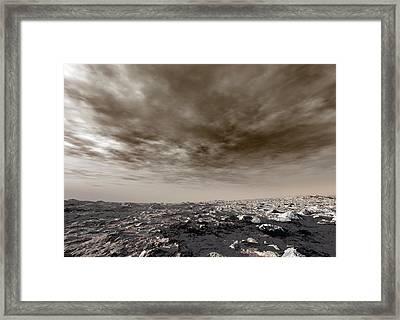 Surface Of Venus Framed Print by Detlev Van Ravenswaay