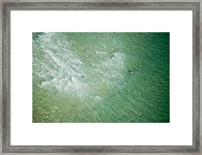 Surfers, Gold Coast Framed Print by Brett Price
