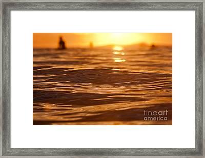 Surfers Sunset Framed Print by Paul Topp