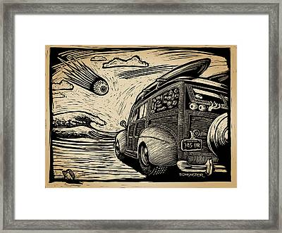 Surf's Up Framed Print by Bomonster