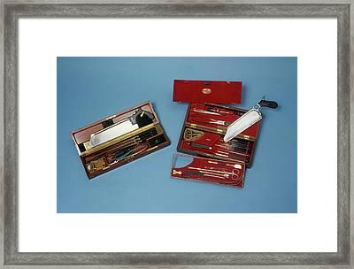 Surgeon's Instruments Framed Print