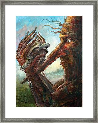 Surprise Encounter Framed Print
