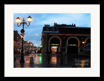 Rainy Street Photographs Framed Prints