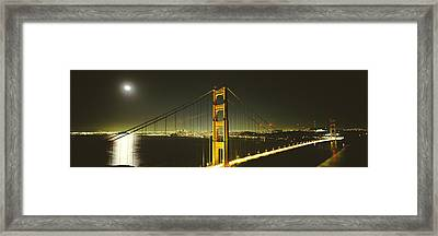 Suspension Bridge Across The Sea Framed Print by Panoramic Images