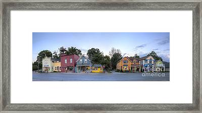 Sutton's Bay Shops Framed Print