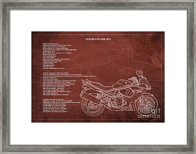 Suzuki Gsx 650f 2011 Technical Information Framed Print