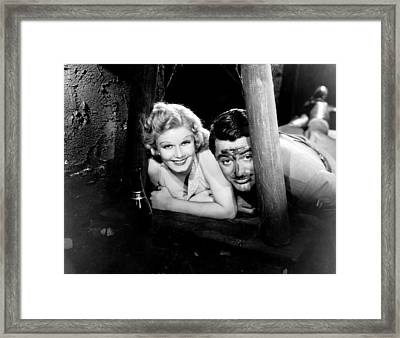 Suzy, From Left, Jean Harlow, Cary Framed Print by Everett