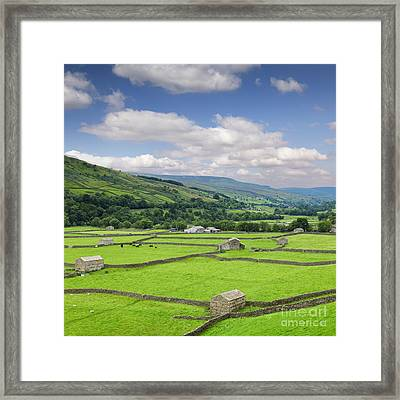 Swaledale Yorkshire Dales England Framed Print by Colin and Linda McKie