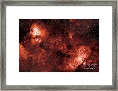 Swan And Eagle Nebulae Framed Print