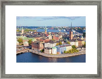 Sweden, Stockholm - The Old Town Framed Print