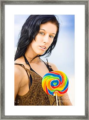 Sweet Beach Babe Framed Print