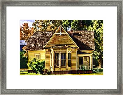 Framed Print featuring the painting Sweet Home by Muhie Kanawati