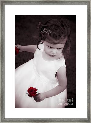 Sweet Little Rose Girl Framed Print