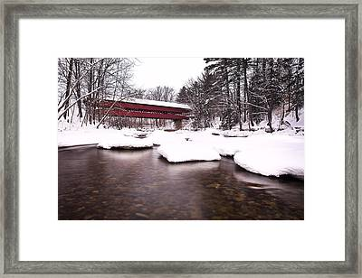Swift River Bridge Framed Print by Eric Gendron