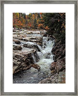 Swift River Framed Print by Marcia Lee Jones