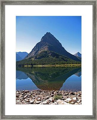 Framed Print featuring the photograph Swiftcurrent  Lake Many Glacier by Joseph J Stevens