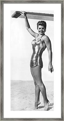 Swimming Star Esther Williams Framed Print by Underwood Archives