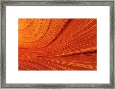 Swirling Sandstone At The Wave Framed Print by Chuck Haney