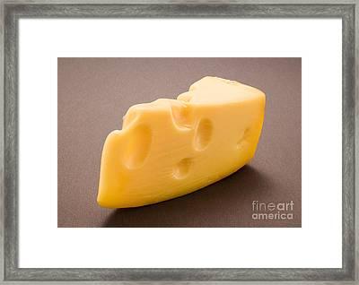 Swiss Cheese Framed Print