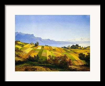 Swiss Landscape Digital Art Framed Prints