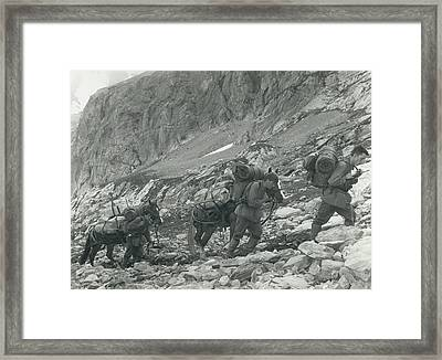 Swiss Radio On The Mountains Framed Print by Retro Images Archive