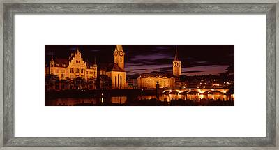 Switzerland, Zurich, Limmat River Framed Print by Panoramic Images