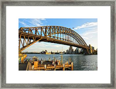 Sydney Harbour Bridge Arching Gracefully Over Sydney Harbour Framed Print