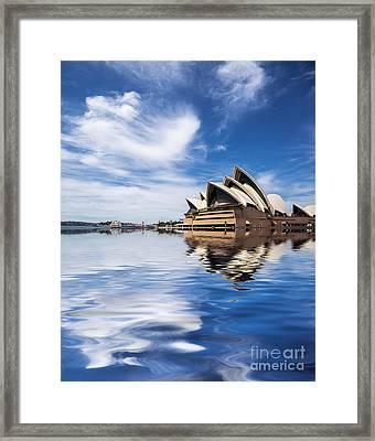 Sydney Opera House Abstract Framed Print