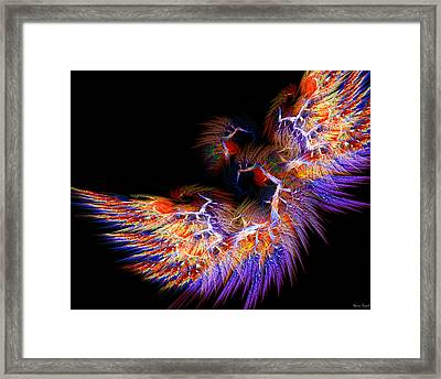 Symbol Of Fire Framed Print by Lourry Legarde