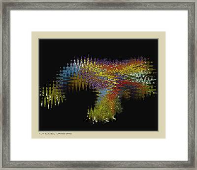Framed Print featuring the digital art Synthetic Lizard by Pedro L Gili