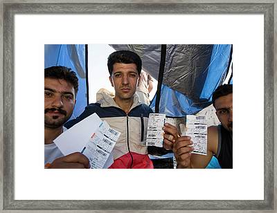 Syrian Refugees Framed Print by Ashley Cooper