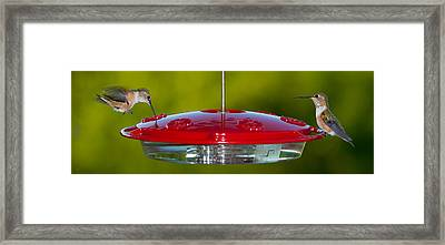 Table For Two Framed Print by Jim Tobin