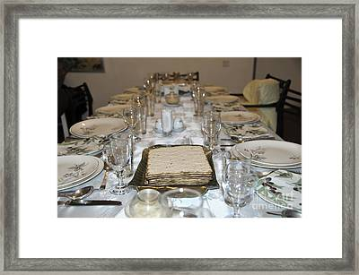 Table Set For A Jewish Festive Meal On Passover  Framed Print by Ilan Rosen