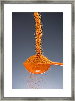 1 Tablespoon Cayenne Pepper Framed Print by Steve Gadomski