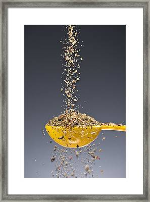 1 Tablespoon Ground Pepper Framed Print