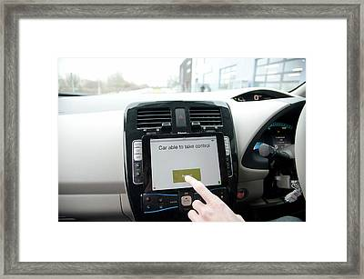 Tablet Interface Of The Robotcar Framed Print