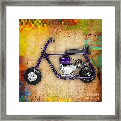 Taco 22 Mini Bike Framed Print by Marvin Blaine