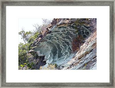 Tafoni Weathering In Corsica Framed Print
