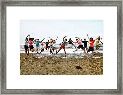 Tagteam Jump Framed Print